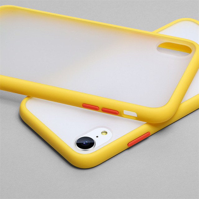 Luxury Color Frame Transparent Matte phone case For iphone 6 6S 7 8 Plus X XS 11 Pro MAX XR Hard PC Protective Back Cover Case