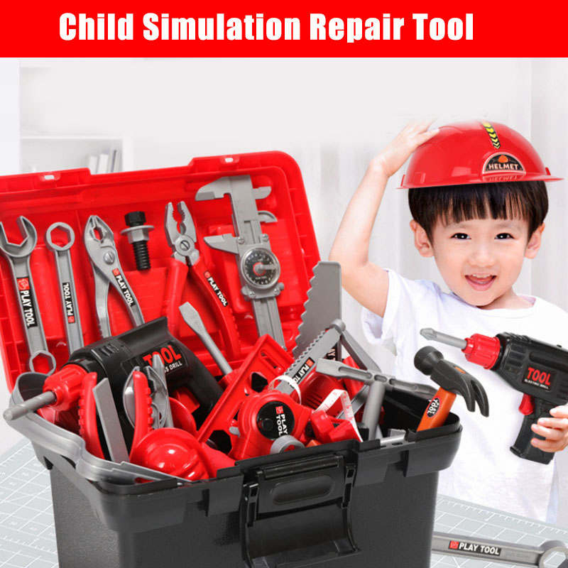 Play Repairing Tool Toy Set for Kids Screwdriver Roleplay Toddler Playhouse Game for Children YJS99