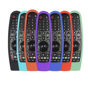 Image 1 - Bảo Vệ Silicone Điều Khiển Từ Xa Dành Cho Tivi LG AN MR600 AN MR650 MR19BA Magic Remote Bao Chống Sốc Có Thể Rửa Được Từ Xa Giá Đỡ