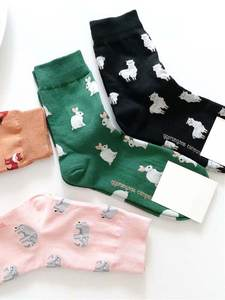 Tide Short Socks Spring Sheep Animal Elephant Rabbit Korean-Style EIOISAPRA Cartoon Cotton