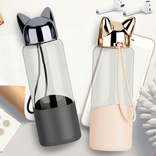Fox Shaped Water Bottle with Rope