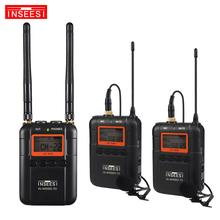 INSEESI IN-WM800 50 Channel Professional Wireless Microphone For DSLR Camcorders System Omni-directional Lavalier Microphone boya by wm6 uhf professional omni directional lavalier wireless microphone recorder system for eng efp dv dslr camera camcorders