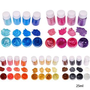 4 Pcs/set Mixed Color Resin Jewelry DIY Making Craft Glowing Powder Luminous Pigment Set Crystal Epoxy Material Dropship