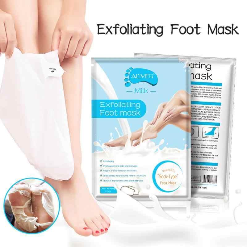 ALIVER Fuß Maske Pediküre Dead Skin Remover Peeling Füße Maske Socken mild Peeling Abgestorbene Weiche Füße Fuß Pflege TSLM2