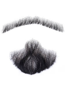 Mustache Lace Beard Fancy Real-Hair Synthetic Barba MSTN Falsa Hand-Made Invisible Man's