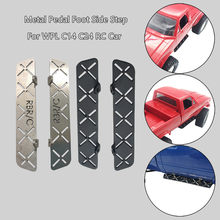 HIINST Metal Pedal Foot Board Side Step Plate Parts For WPL C14 C24 1/16 RC Crawler Car Simulation model car aluminum pedals(China)