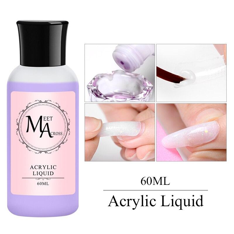 60 мл акриловый жидкий лак для ногтей, Кристальный акриловый порошок для ногтей, розовый порошок для ногтей, инструмент для наращивания ногт...