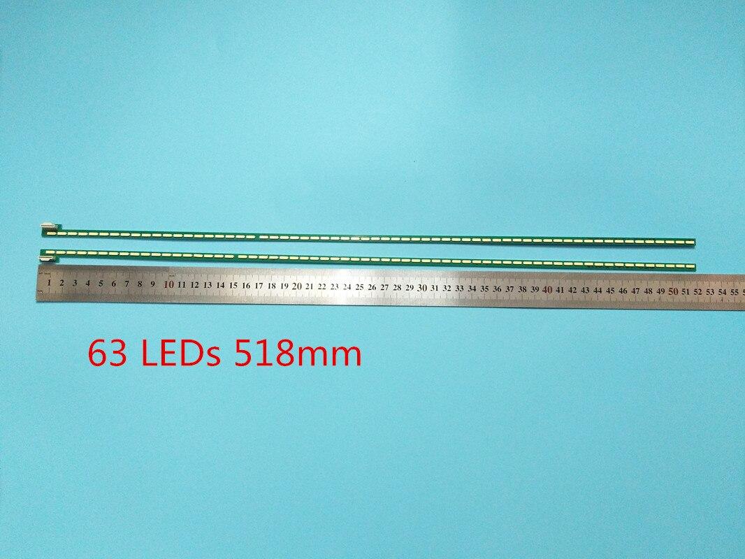 Nova 2 PCS 63LED 518 Milímetros Tira Conduzida Luz De Fundo Para LG 47LA6600 6922L-0071A 0029A 6916L1179B 6920L-0001C 47
