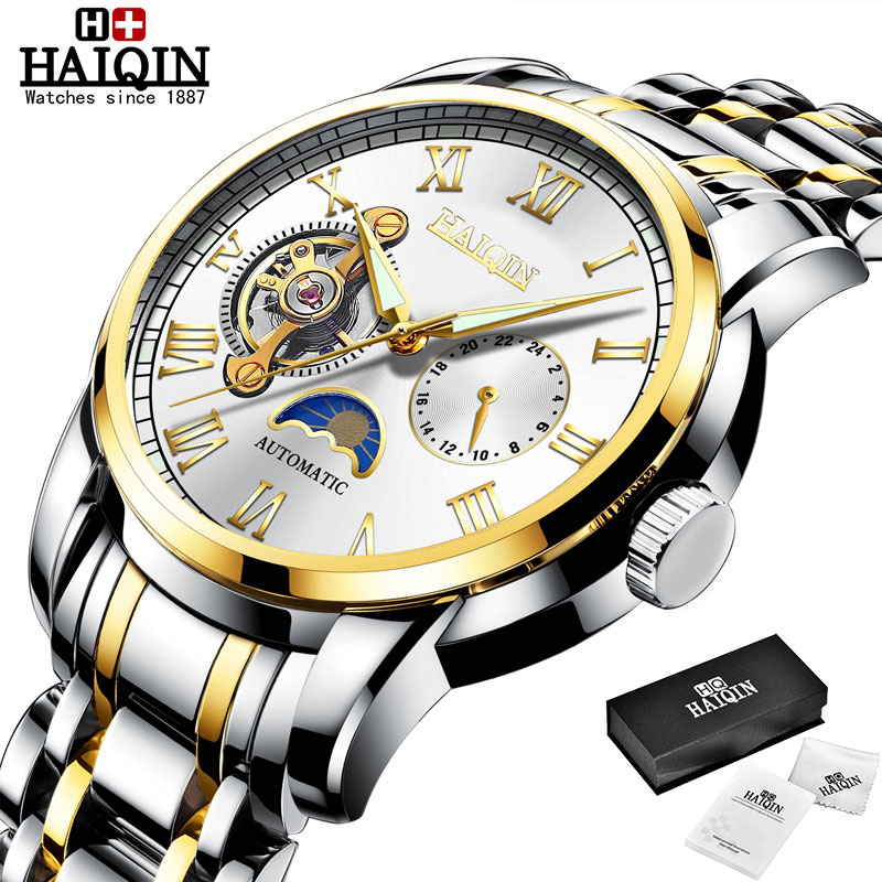 HAIQIN Mechanical watches mens automatic wrist watch for mens watches top brand luxury watch men Tourbillon relojes hombre 2020 14