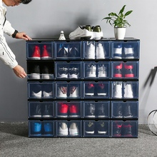 Transparent Thicken Shoes Boxes Novelty Drawer Type Drawers Storage Container Organizers organizador zapatos 1 Pc