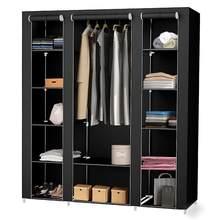 Armario de tela no tejida multiusos, ropero portátil, plegable, impermeable, ropa, muebles de gabinete de almacenamiento, HWC, 175cm