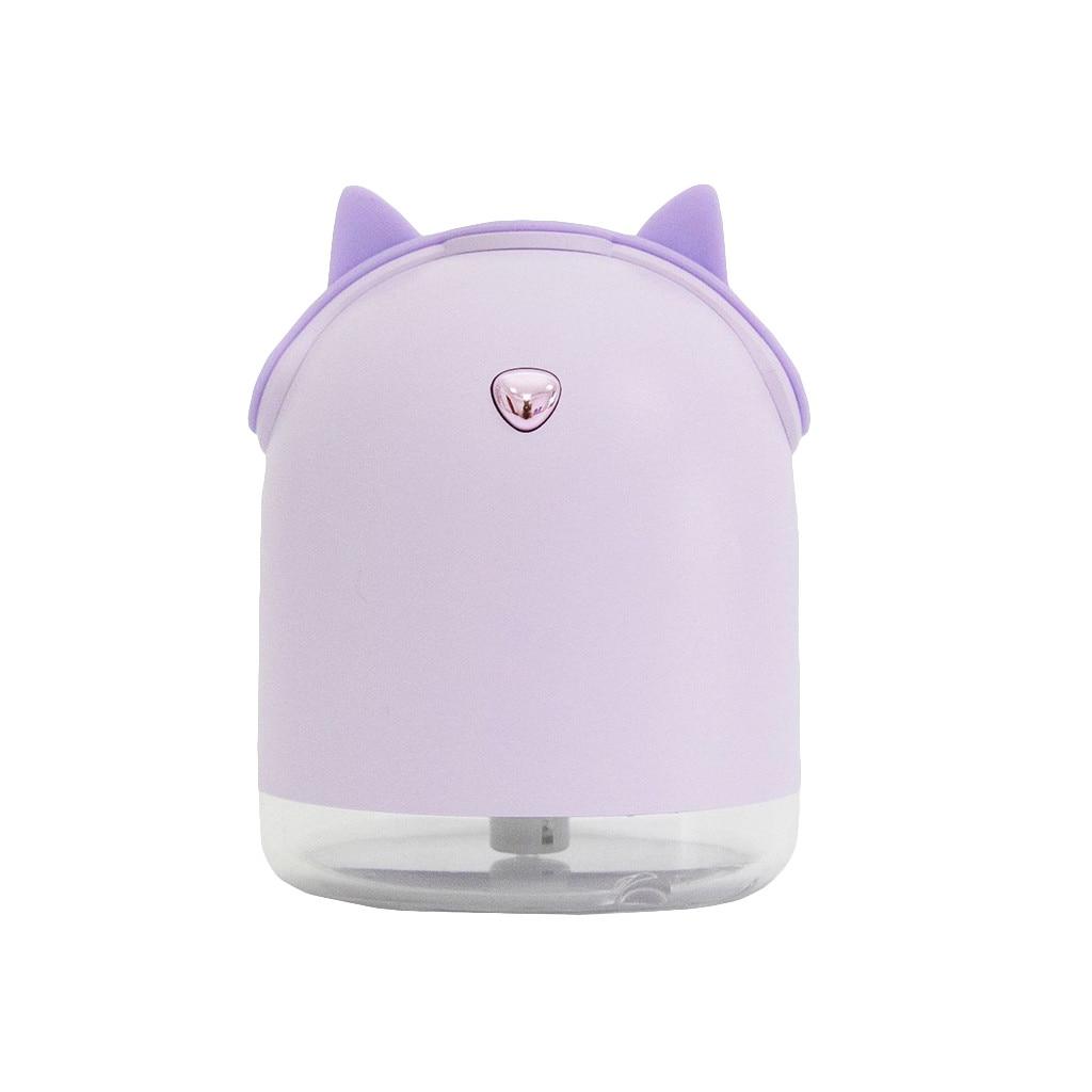 Креативный автомобильный диффузор эфирного масла, мини ультразвуковой увлажнитель, светодиодный, USB аэрозольный генератор для ароматерапии, автомобильный освежитель воздуха - Цвет: Purple