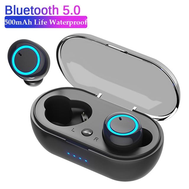 TWS Ear Buds Wireless Bluetooth Earphone Noise Cancelling Earbuds Waterproof HiFi Gaming Headset Earphones With Mic Charging Box