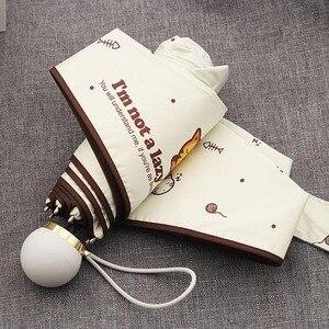 Image 4 - OLYCAT Carino Mini Ombrello Gatto Ultralight Tasca Bambini Ombrelli Cinque Pieghevole di Protezione Del Sole Antivento Del Fumetto Ombrello Pioggia Donne