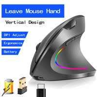 Souris sans fil souris verticale ergonomique optique 800/1200/1600/2400 DPI 6 boutons Mause pour Windows MAC OS