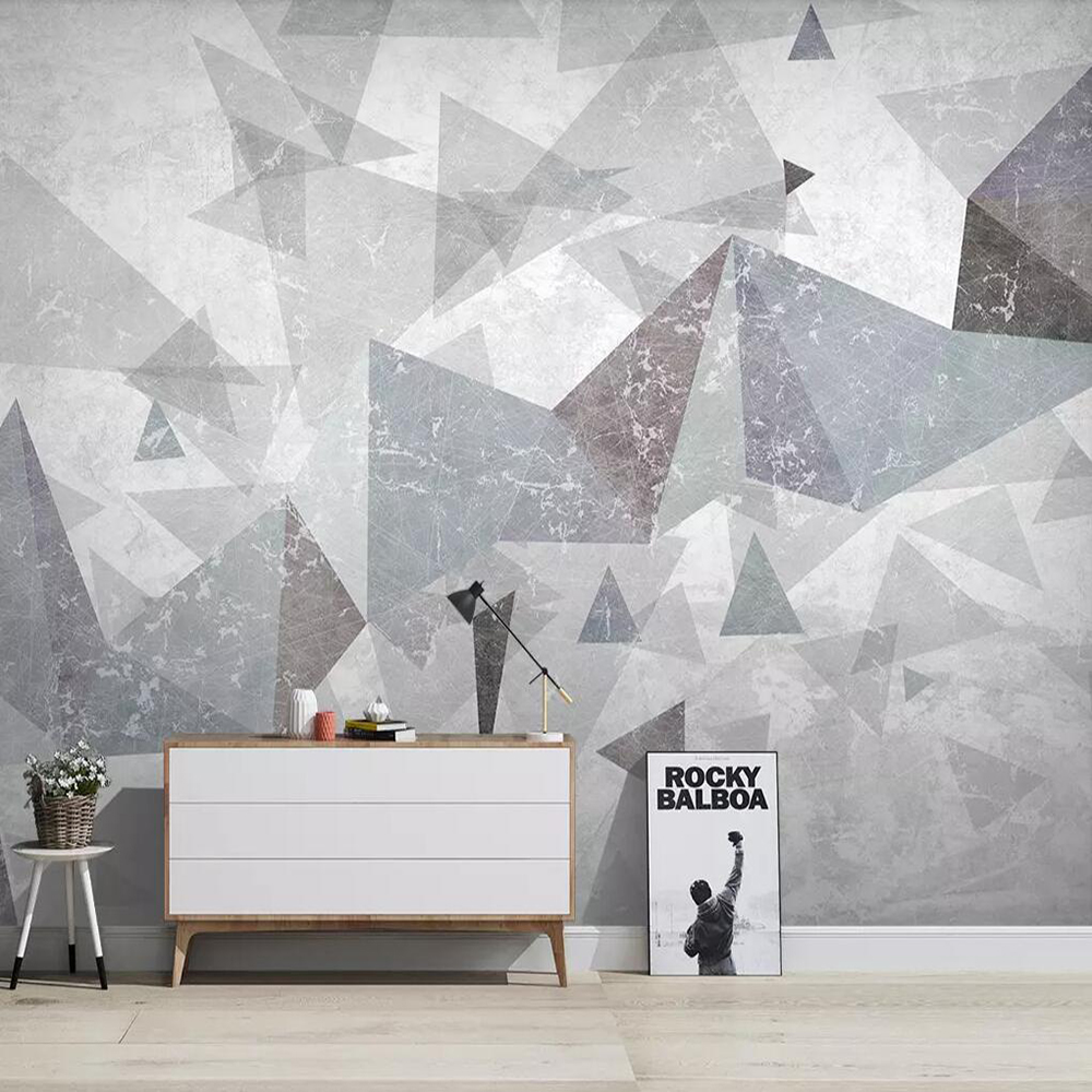 Drop Shipping Custom 3D Wallpaper Mural Modern Minimalist Abstract Solid Geometry Living Room Background Wall Painting Wallpaper