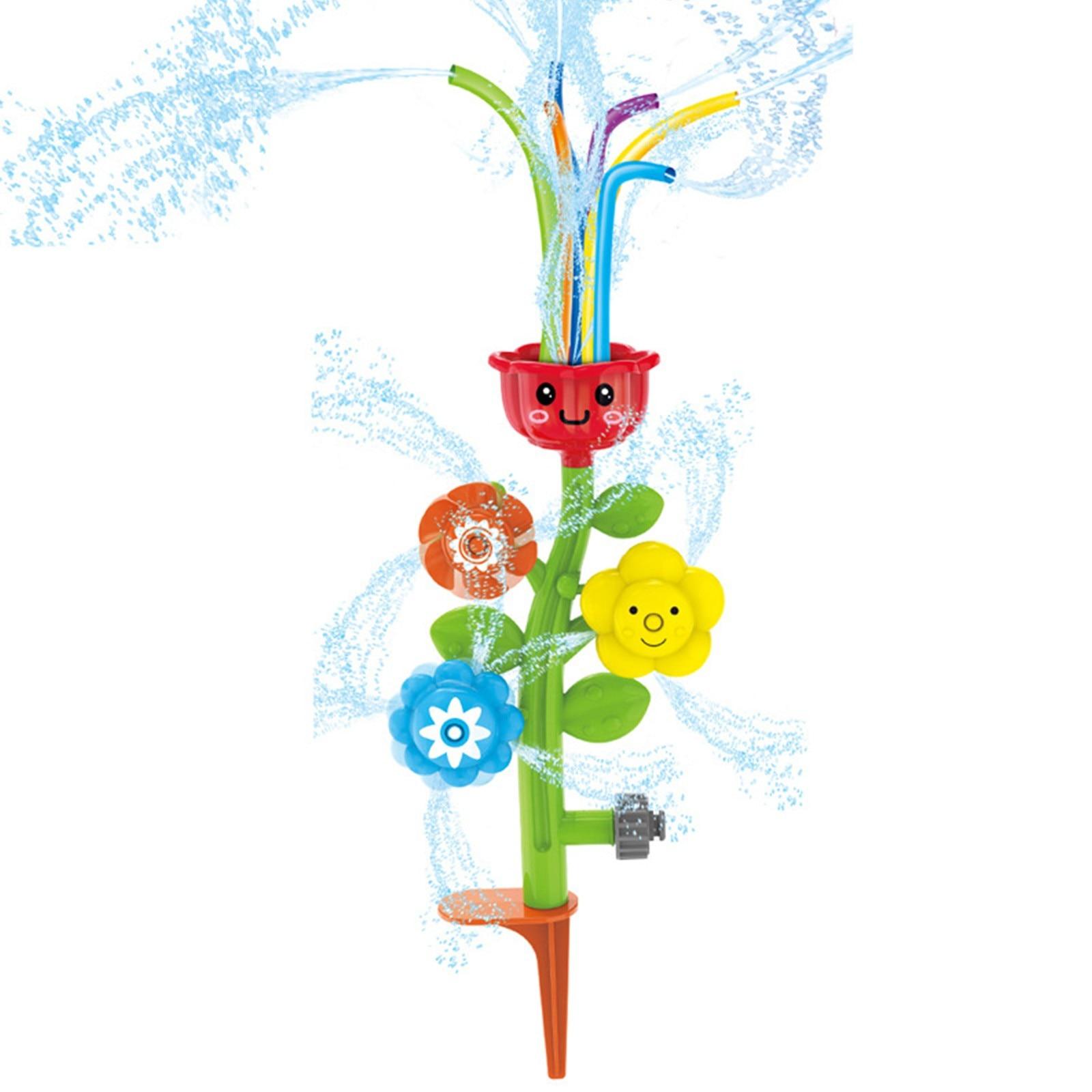 Kids Sprinkler Flower Water Spray Toy Lawn Sprinkler Splash for Yard Children Outdoor Novel Funny Summer Outdoor Water Toys FE
