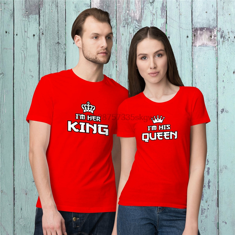 IM Her King And IM His Queen -ValentineS Day Matching T-Shirts For Couples! Slim Fit Tee Shirt