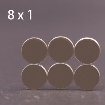 10 50 100 200 500 Pcs 8 #215 1 magnes neodymowy 8mm x 1mm N35 NdFeB okrągły Super mocny mocny stały magnetyczny imanes Disc 8 #215 1 tanie i dobre opinie CN (pochodzenie) NONE permanentny Przemysłowy magnes powłoka