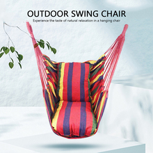 2020 Thicken Hammock Chair Adults Kid Hanging Swing Chair Outdoor Portable Relaxation Canvas Swing Travel Camping Lazy Chair New