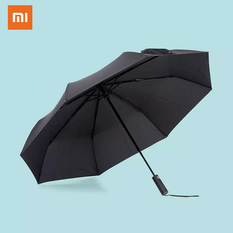 Xiaomi Automatic black folding umbrella windproof waterproof UV umbrella men and women shade in summer and winter