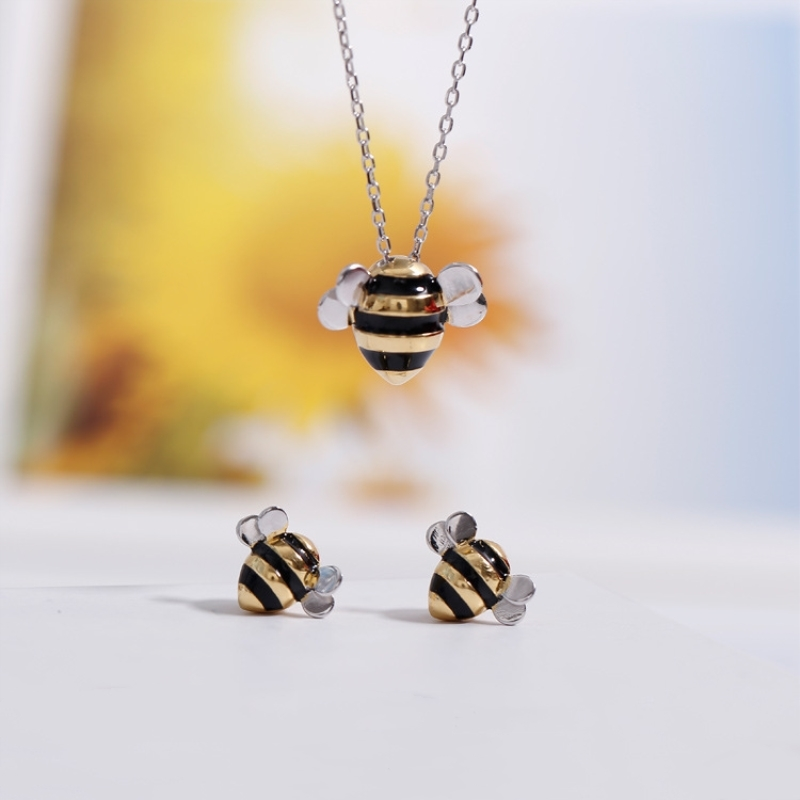 Silver Female Bee Jewelry (With Box+E-Packet)