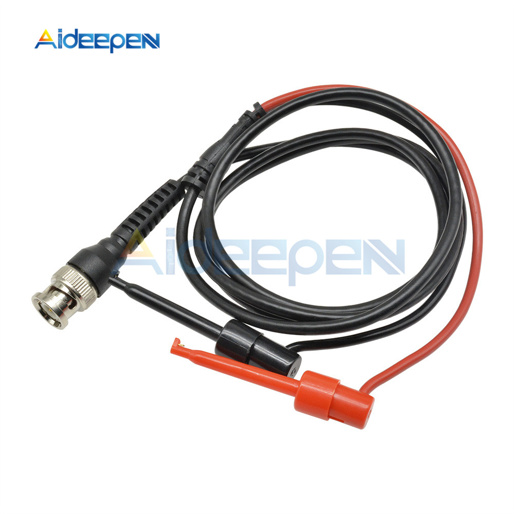 Digital Oscilloscope BNC Probe Test Leads Q9 Male Connector To Dual Alligator Clip Oscilloscope Probe Test Line Cable Test Hook
