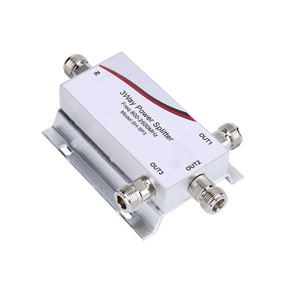 Sunhans 800~2500MHz 1 To 3 Way RF Power Divider Splitter N Female For GSM CDMA DCS 2G 3G 4G Cell Phone Signal Repeater Antenna
