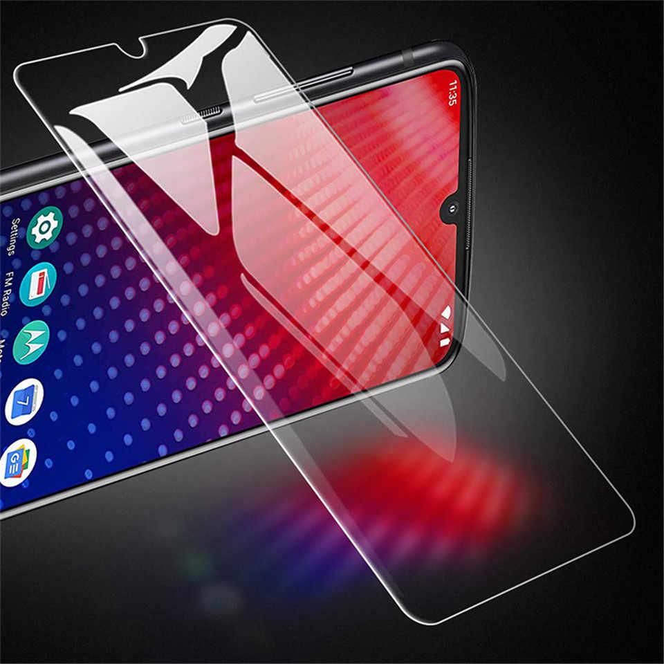 2 adet temperli cam ekran koruma Moto bir/hiper/Zoom/aksiyon/görüş/güç/Z4/ z3/Z2/Z/oyun/kuvvet 2.5D koruyucu film