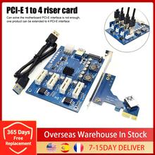 1 zestaw PCI-E X1 do 4PCI-E X16 zestaw rozszerzeń 1 do 4 portów PCI Express przełącznik mnożnik HUB 6 Pin Sata karta Riser USB dropshipping tanie tanio CN (pochodzenie) Other NONE Dostępny w magazynie riser card