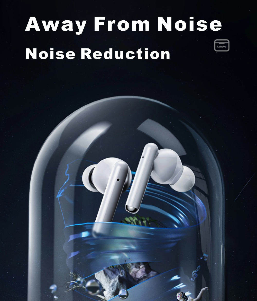 NEW Original Lenovo LP1 TWS Wireless Earphone Bluetooth 5.0 Dual Stereo Noise Reduction Bass Touch Control Long Standby 300mAH (35)