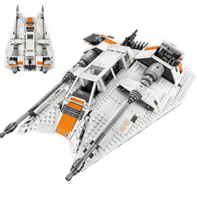 In stock 05084 Star Wars Series Snowspeeder Snowfield Aircraft Building Block  Bricks Toy Compatible with Legoinglys star wars lepin 05057 937pcs star wars stunning selflocking shuttle tydirium model building blocks bricks assembled toy legoinglys 75094