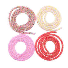 1 ярд полимерные сверкающие стразы веревка цветная мягкая трубка
