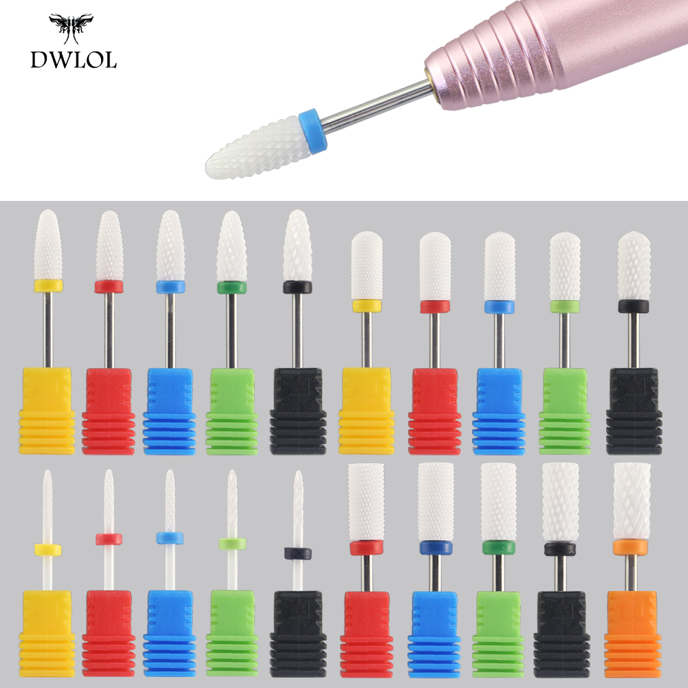 Milling Cutter For Manicure Ceramic Nail Drill Bits Pedicure Milling Cutter For Nail Files Manicure Cutter Nail Art Tools