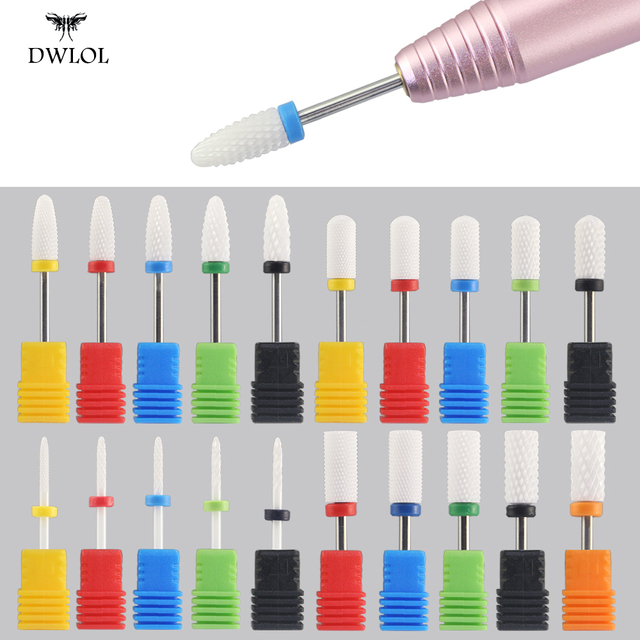 Milling Cutter For Manicure Ceramic Nail Drill Bits Pedicure Milling Cutter For Nail Files Manicure Cutter Nail Art Tools 1