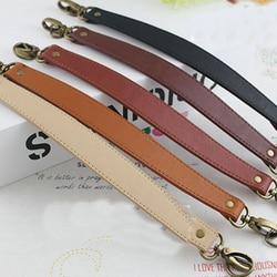 1PC Decompression Replacement Bag Straps 34.5cm PU Leather Short Bag Belts DIY Bag Handle Women Handbag Purse Handle Accessories