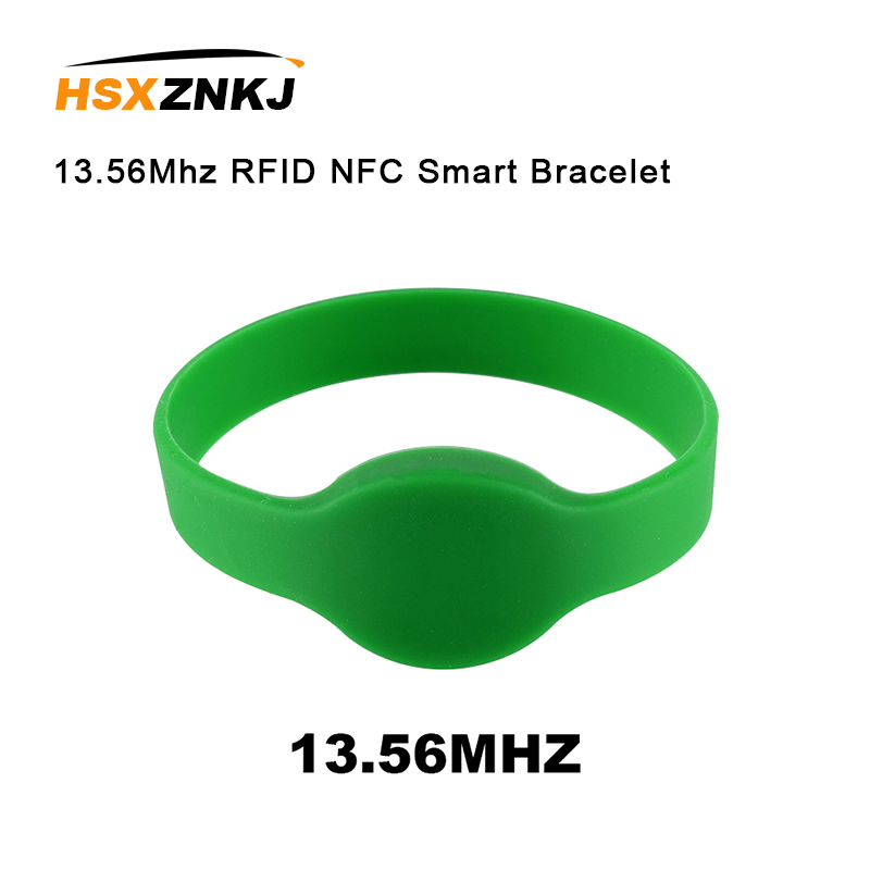 5PCS 13.56Mhz RFID NFC Smart MF 1K S50 Electronic Bracelet Wristband For Access Control Wristband Silicone Access Control Card