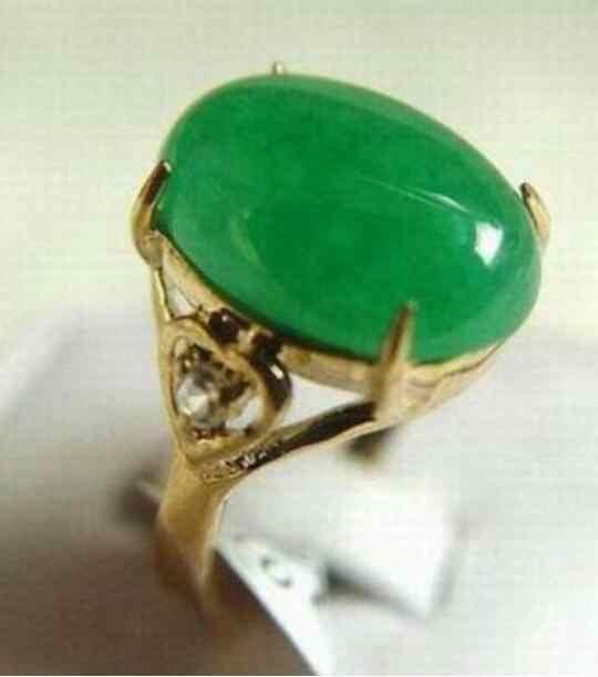 เครื่องประดับไข่มุกแหวนสีเขียวสีเขียว jades ลูกปัด GP แหวน (#6,7,8,9,10) จัดส่งฟรี
