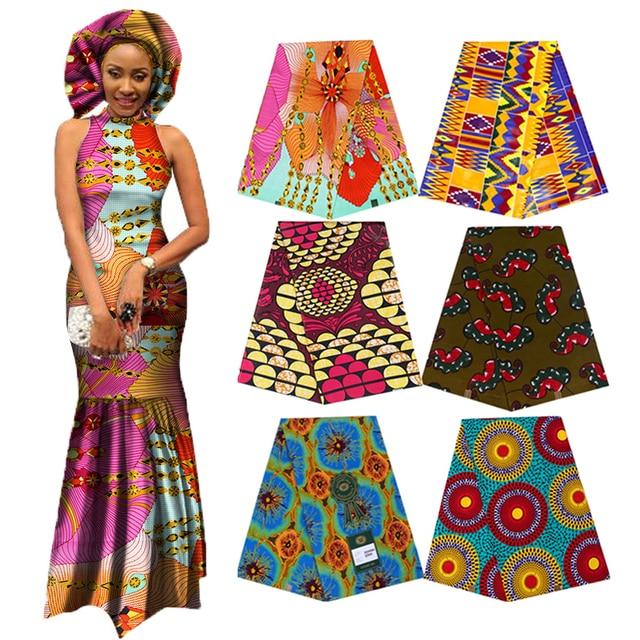 אלגנטי אפריקה אנקרה הדפסי בטיק בד מובטח אמיתי שעוות טלאים לנשים המפלגה שמלת מלאכות 100% כותנה באיכות הטובה ביותר