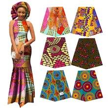 Elegancka afryka Ankara drukuje tkanina batikowa gwarantowany prawdziwy wosk Patchwork dla kobiet Party sukni rękodzieła 100% bawełna najlepsza jakość