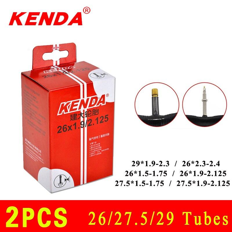 2 pièces KENDA vélo chambre à air 26/27. 5/29 caméra Schrader Presta valve chambre à air VTT chambres à air