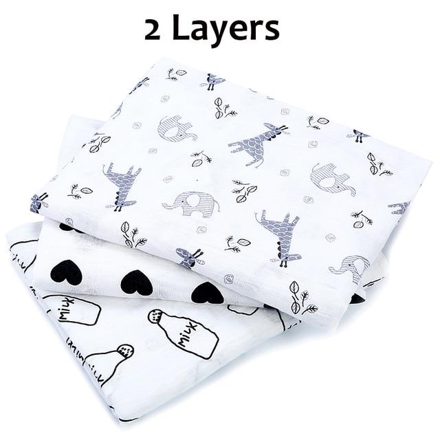 [simfamily] 1Pc Muslin 100% Cotton Baby Swaddles Soft Newborn Blankets Bath Gauze Infant Wrap sleepsack Stroller cover Play Mat 4