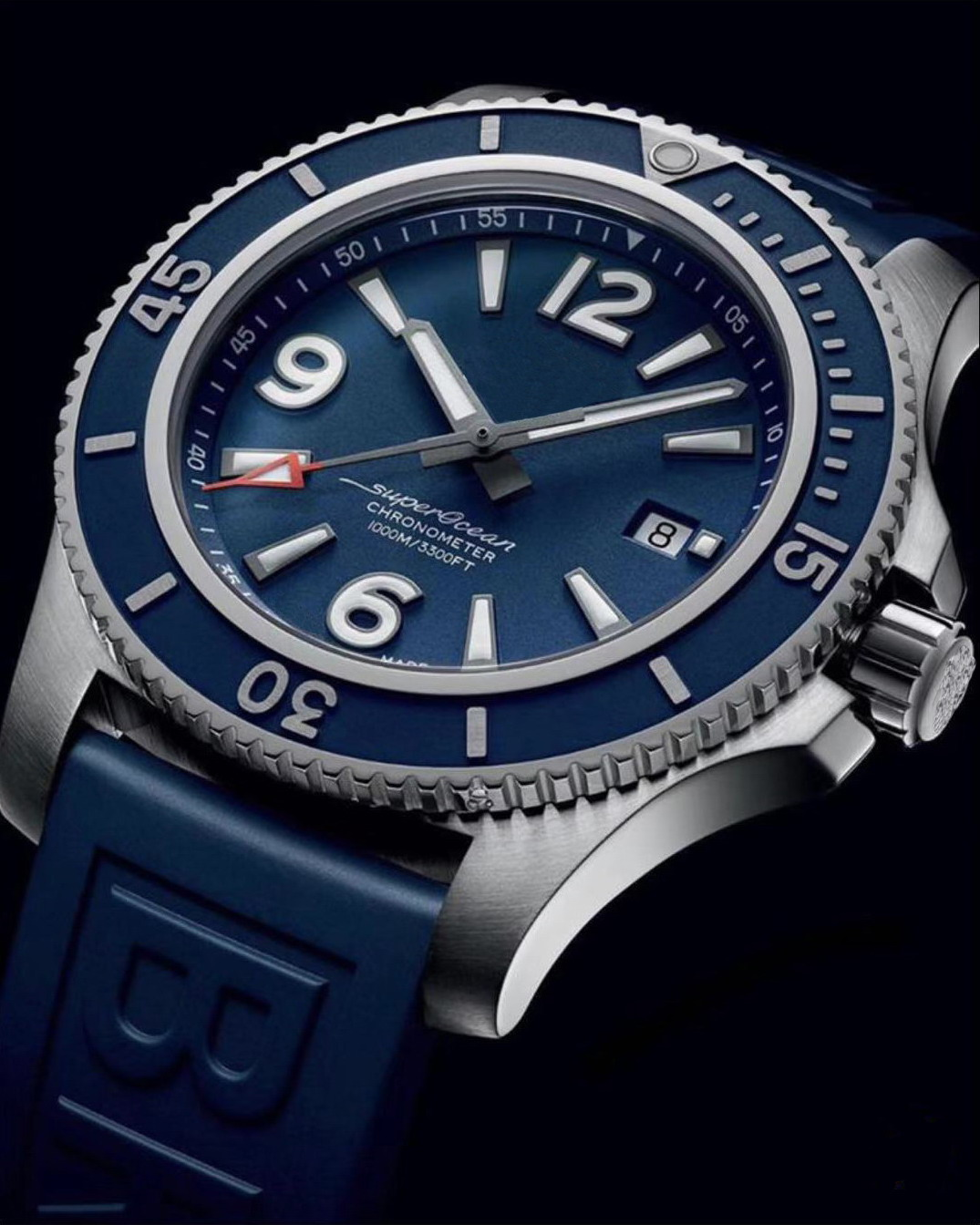 Luxury Brand New Blue Rubber Automatic Mechanical Men Watch Stainless Steel Ceramic Bezel Sport Watches Sapphire ETA 2836 AAA+