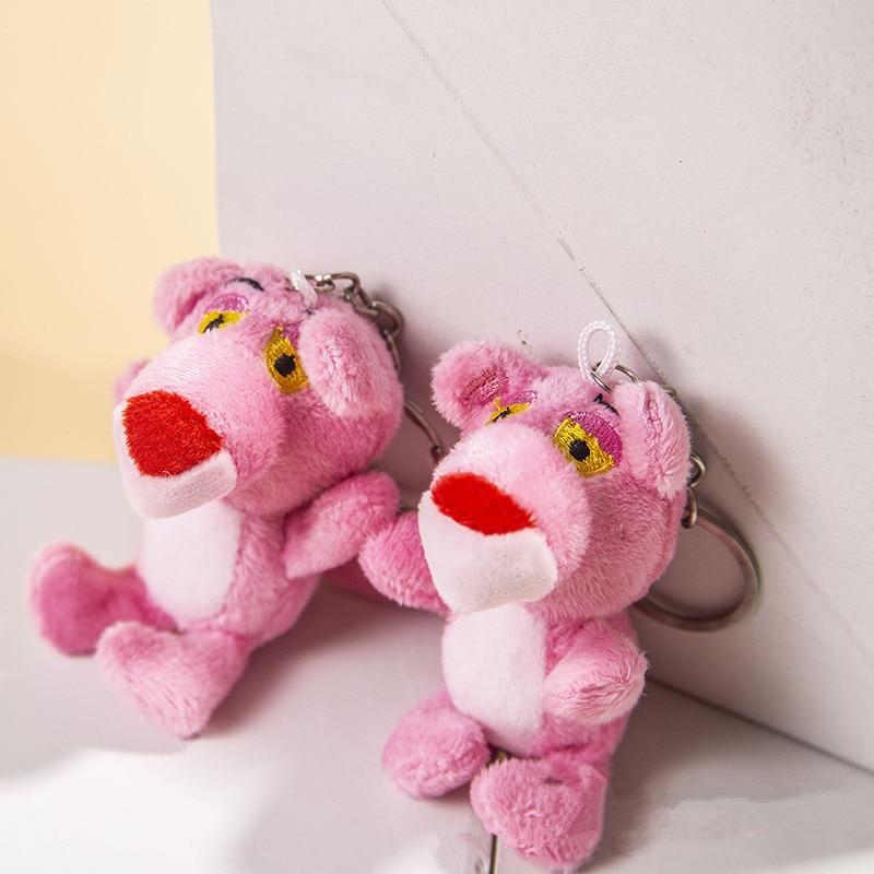 Pink Panther Plush Toy 9cm  Cute Soft Stuffed Dolls Decorative Keychain PendantFor Kids Christmas Gift