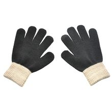 Suit for Over 12 Years Kids Children Kids Magic Winter Gloves Colorblock Full Finger Warm Knitted Gloves gants hiver enfant @45(China)