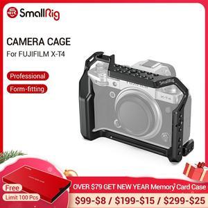 """Image 1 - SmallRig X T4 מצלמה כלוב עבור FUJIFILM X T4 אלומיניום סגסוגת כלוב עם קר נעל הר/נאט""""ו רכבת מצלמה וידאו אבזרים 2808"""
