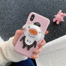 Luxury 3D Animal Pink Pig Cut  for iphone X XR XS MAX 7 8 pl
