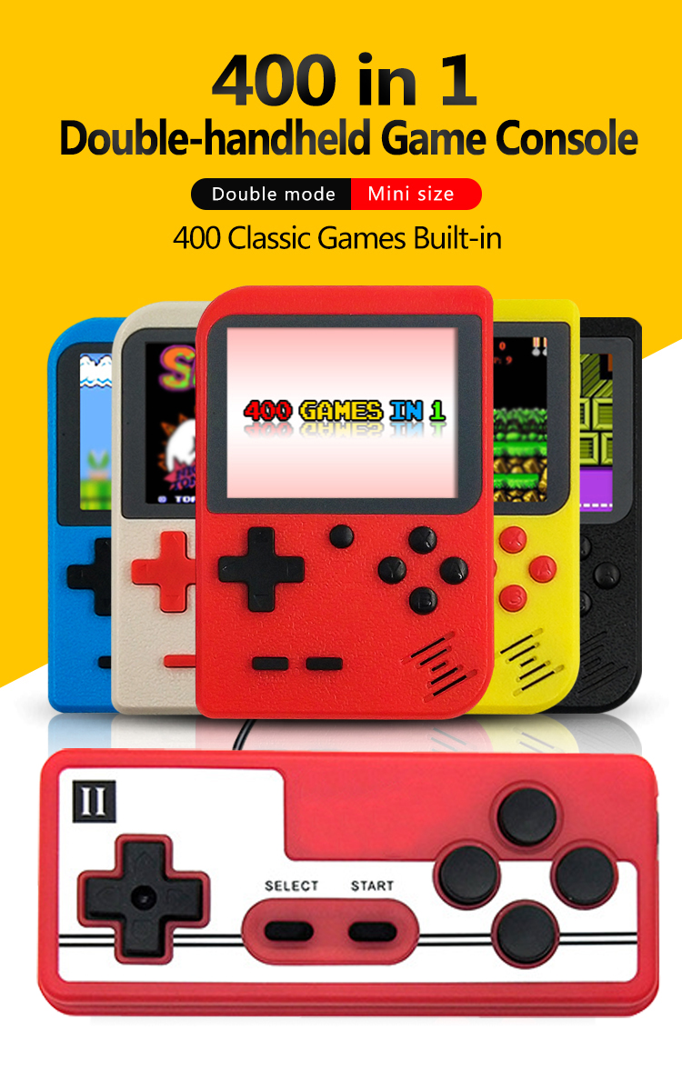 2020 MINI Portable Retro Video Console Handheld Game Advance Players Boy 8 Bit Built-in 400 Games Gameboy 3.0 Inch LCD Sreen