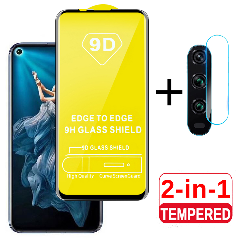 2 In 1 Tempered Glass For Honor 20 Camera Lens Protective Glass On For Huawei Honor 20 Honor20 Film Honer 20 YAL L21 L4 Cover 9H