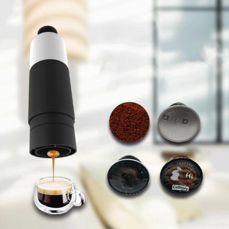 Mini Hand Pressure Portable Capsules Coffee Machine Cooking Cup Manual 21 Bar Italian Espresso Maker Extraction Pot